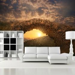 Fototapeta do salonu most przy zachodzie słońca