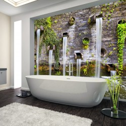 Panel szklany do łazienki Blomen park