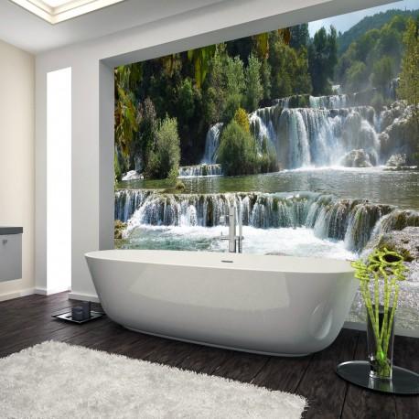 Panel szklany do łazienki wodospad Krka