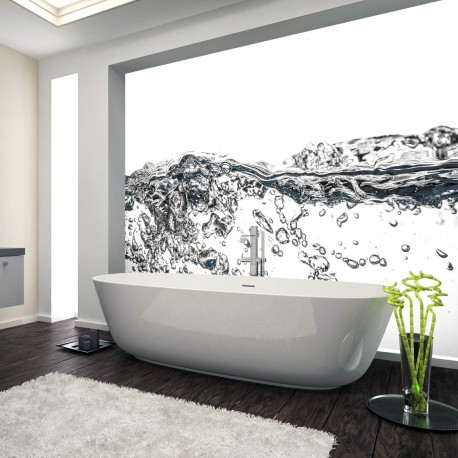 Panel szklany do łazienki pluśnięcie wody